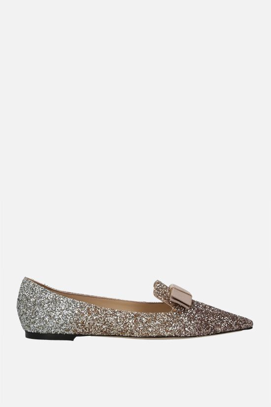 JIMMY CHOO: Gala ballerinas in dègradè glitter fabric Color Multicolor_1
