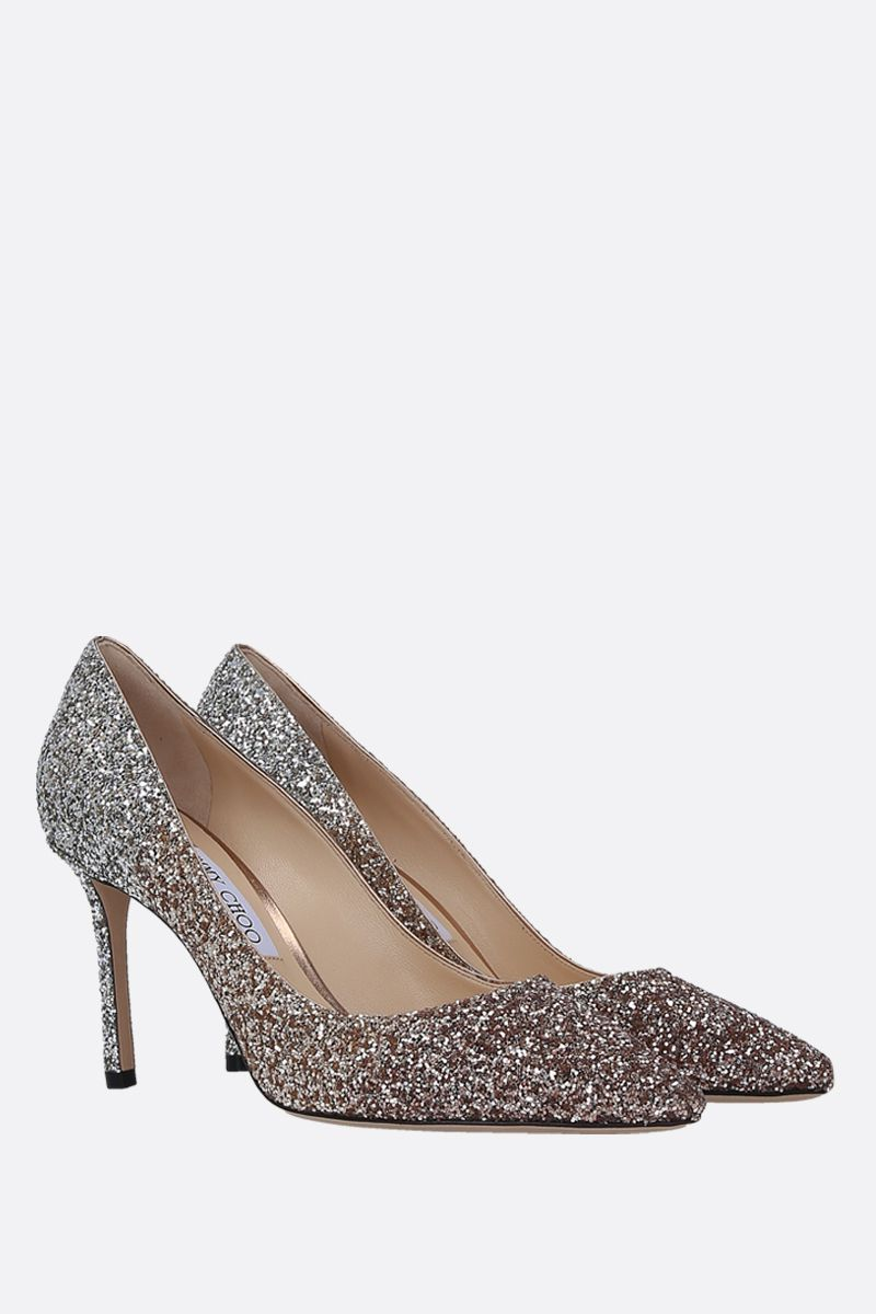 JIMMY CHOO: Romy degradè glitter fabric pumps Color Multicolor_2