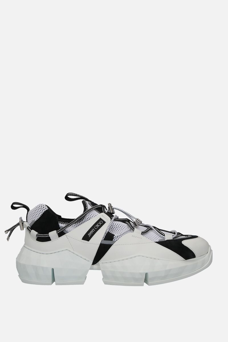 JIMMY CHOO: sneaker Diamond Trail/M in rete e pelle Colore Nero_1
