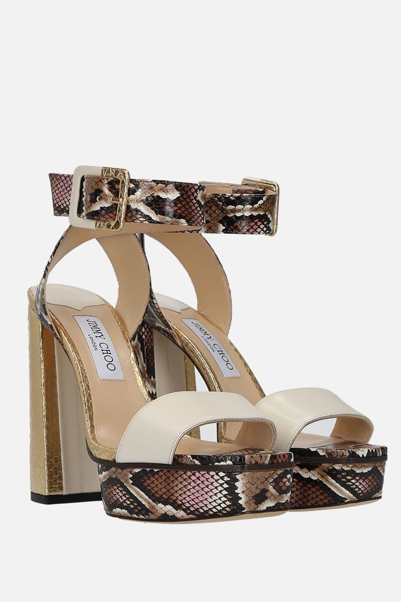 JIMMY CHOO: Jax/PF leather platform sandals_2