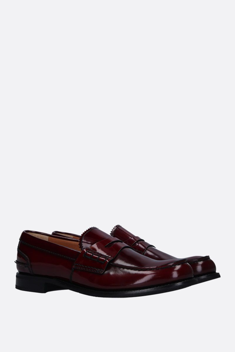 CHURCH'S: Pembrey loafers in shiny leather Color Red_2