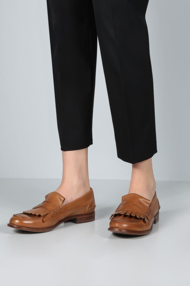 CHURCH'S: Odessa smooth leather loafers Color Neutral_2