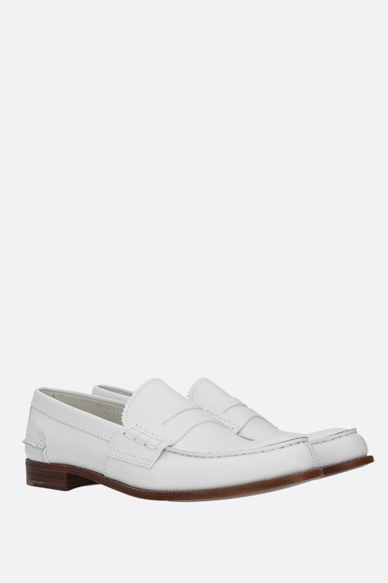 CHURCH'S: Pembrey 2W smooth leather loafers Color White_2