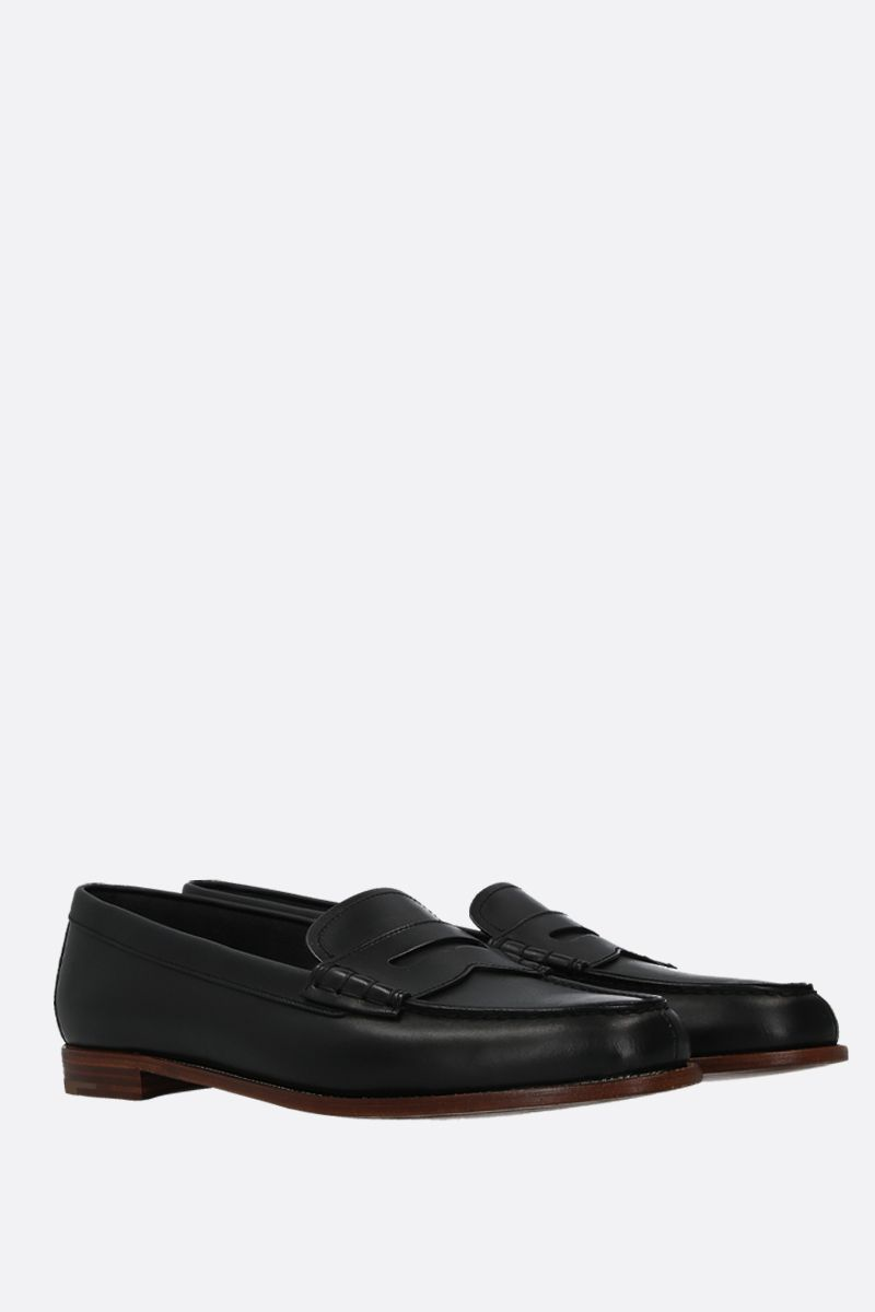 CHURCH'S: Kara 2 loafers in brushed leather Color Black_2