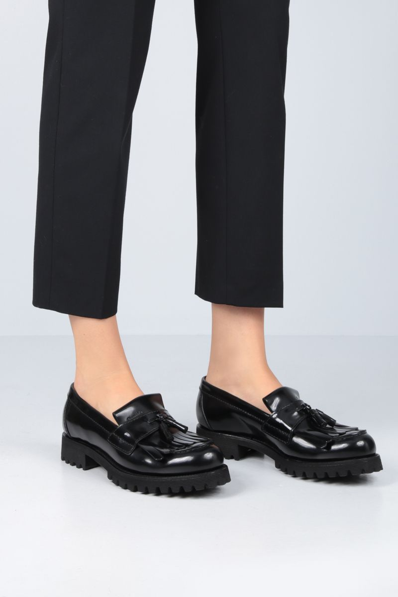CHURCH'S: Catrina loafers in brushed calf Colore Nero_2