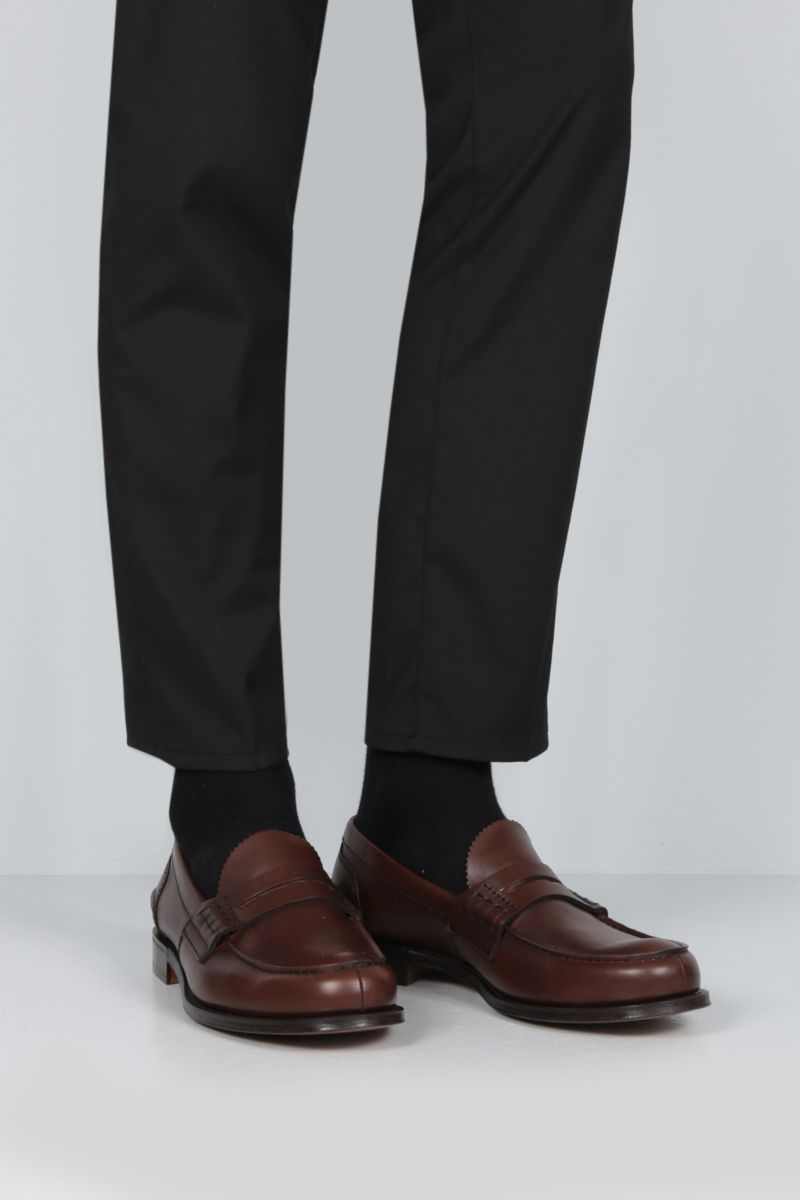 CHURCH'S: Pembrey loafers in Prestige leather Color Brown_2