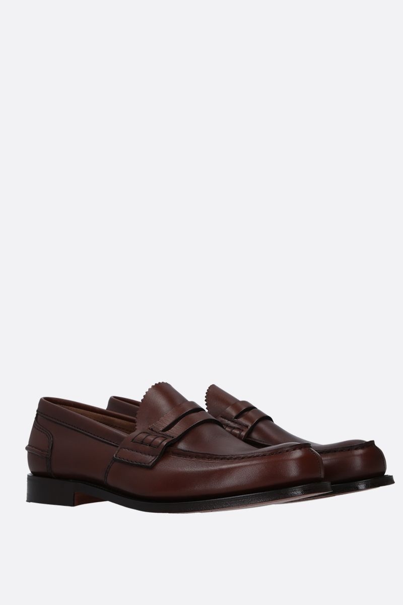 CHURCH'S: Pembrey loafers in Prestige leather Color Brown_3