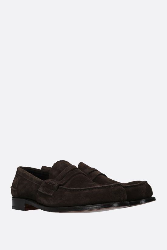 CHURCH'S: Pembrey suede loafers Color Brown_2