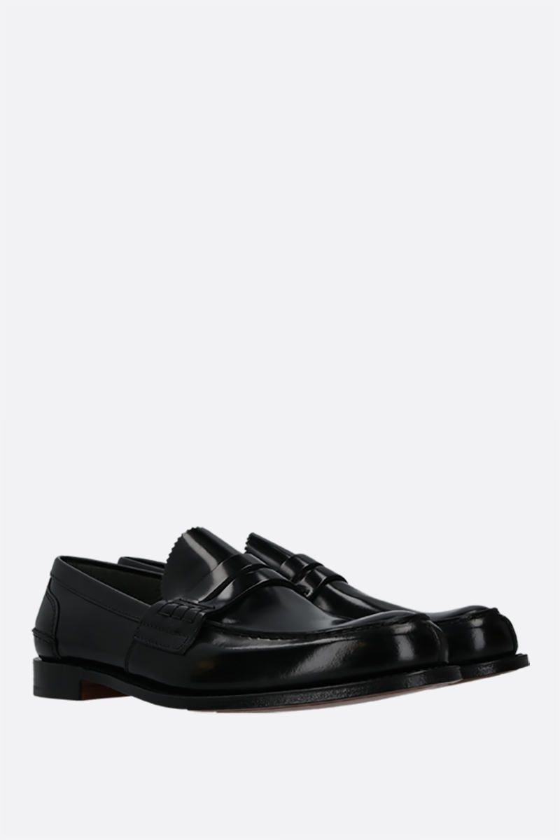 CHURCH'S: Tunbridge shiny leather loafers Color Black_2