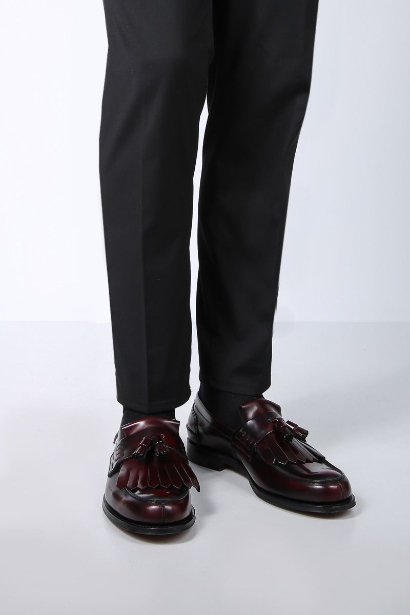 CHURCH'S: Oreham loafers in brushed calf Color Red_2