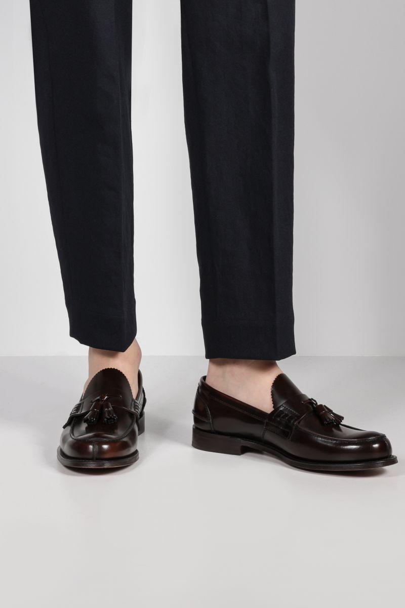 CHURCH'S: Tiverton loafers in Bookbinder leather Color Brown_2