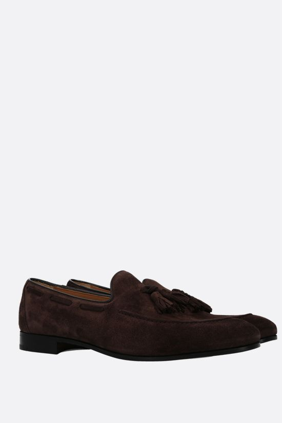 CHURCH'S: Doughton velvet suede loafers Color Brown_2