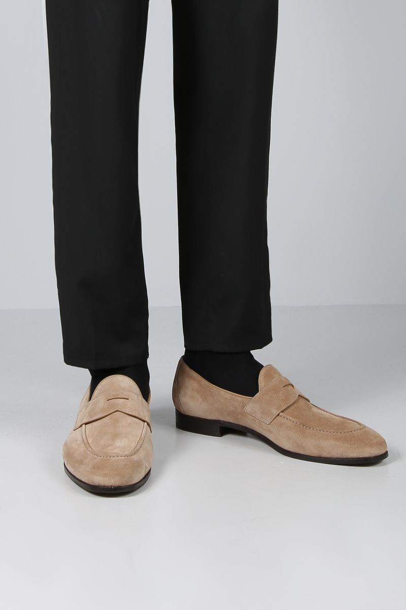 CHURCH'S: Dundridge suede loafers Color Neutral_2