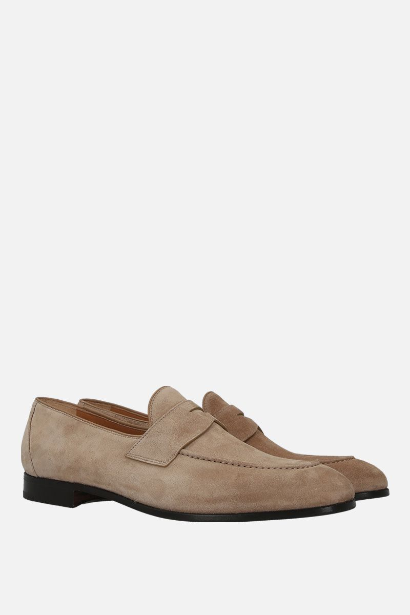 CHURCH'S: Dundridge suede loafers Color Neutral_3