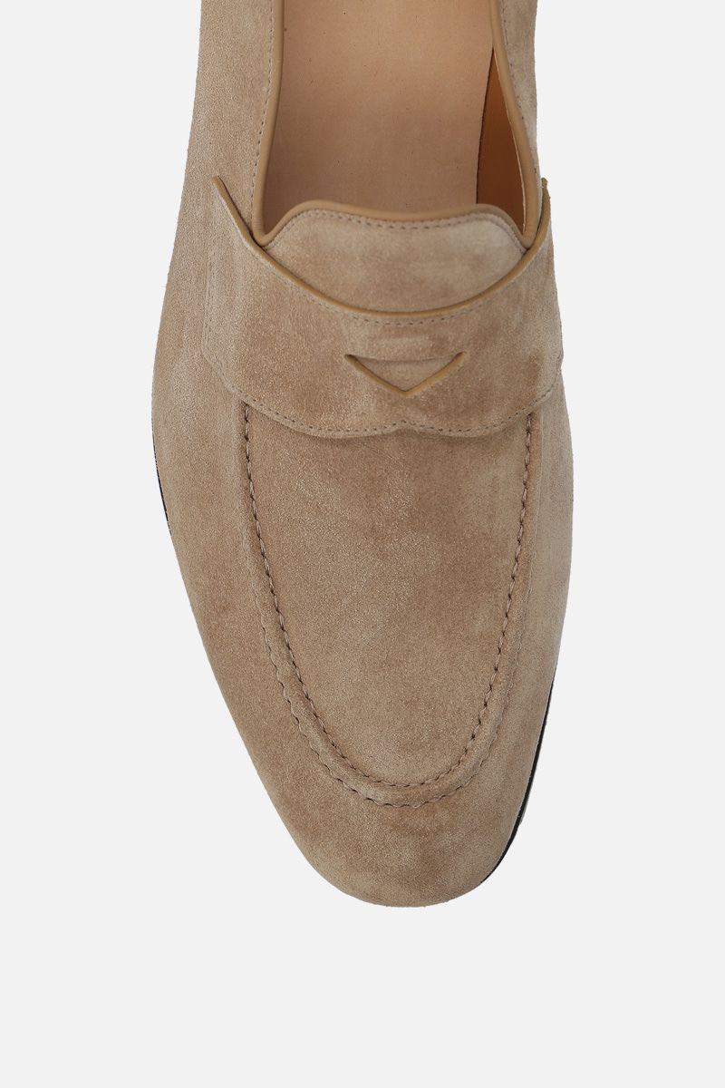 CHURCH'S: Dundridge suede loafers Color Neutral_5