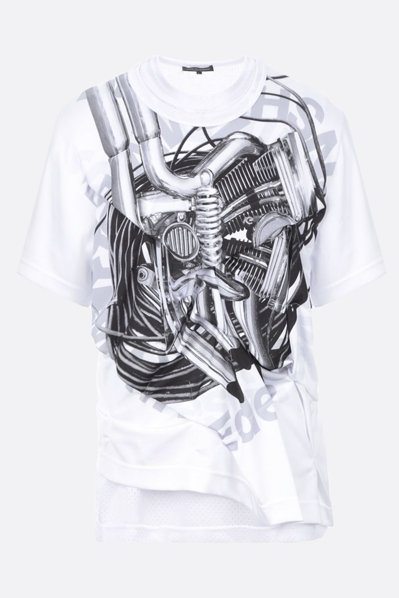 COMME des GARCONS HOMME PLUS: t-shirt in jersey stampa grafica Colore White_1
