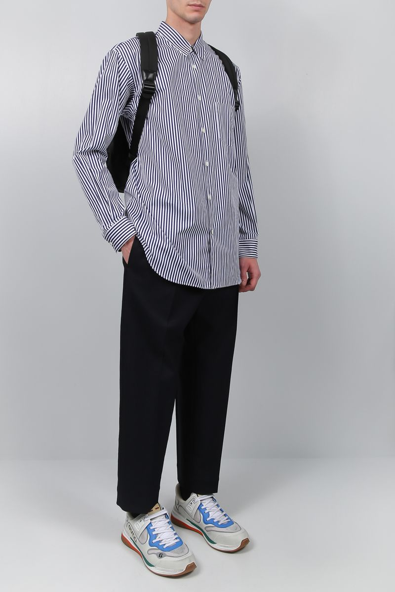 COMME des GARCONS SHIRT: camicia regular-fit in popeline a righe Colore Rosa_2