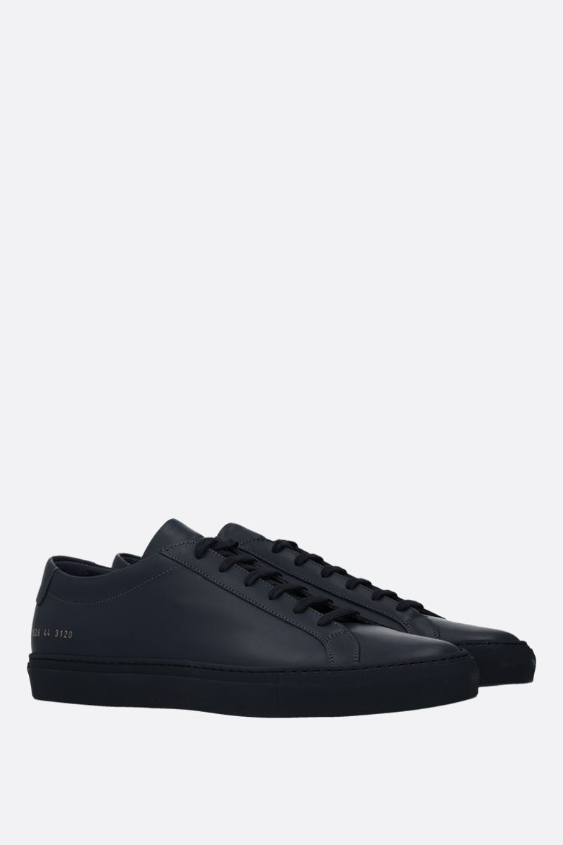 COMMON PROJECTS: Original Achilles sneakers in smooth leather Color Blue_2
