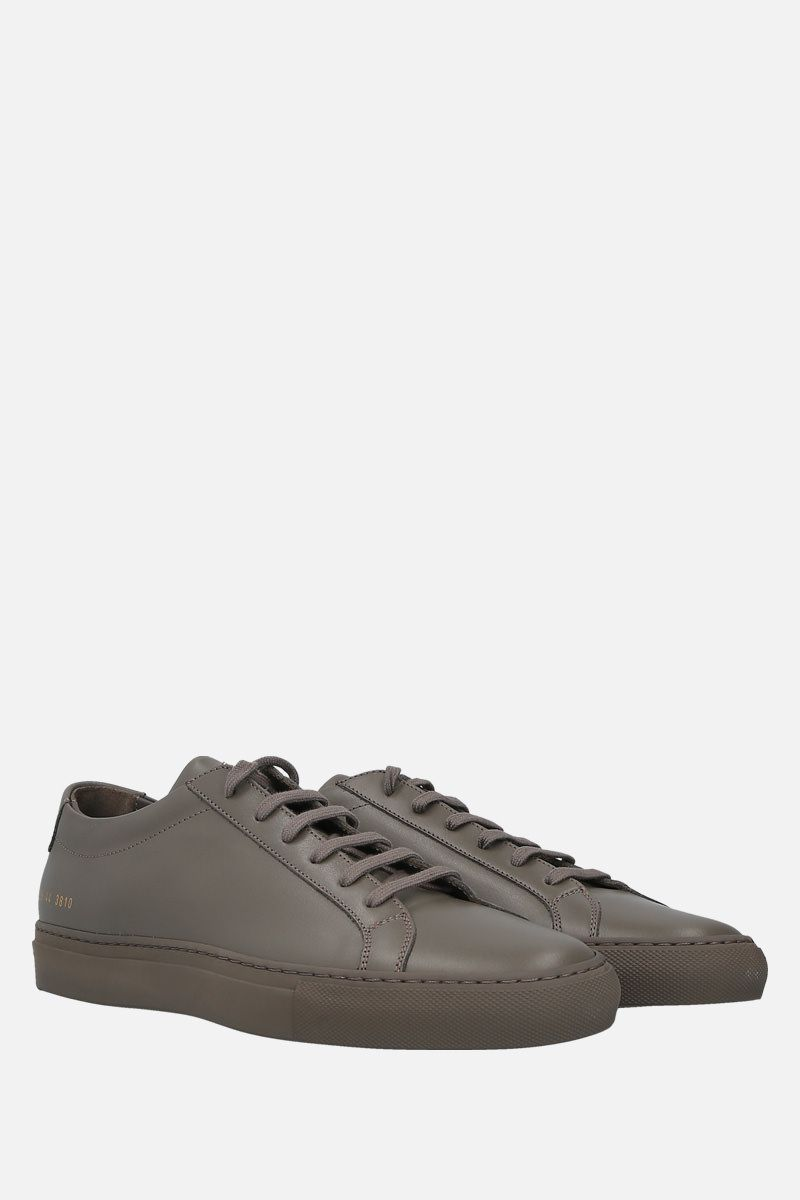 COMMON PROJECTS: Original Achilles smooth leather sneakers Color Grey_2