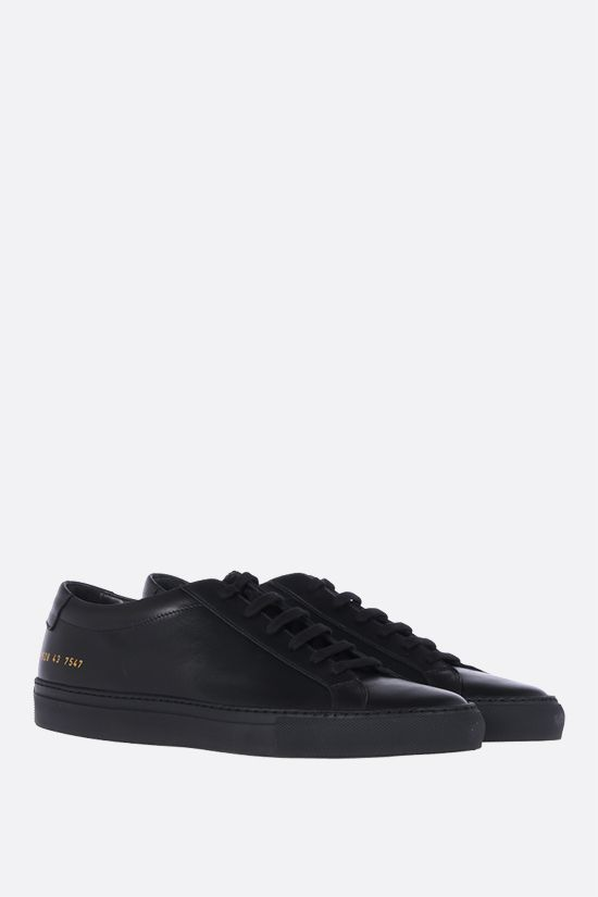 COMMON PROJECTS: Original Achilles smooth leather sneakers Color Black_2