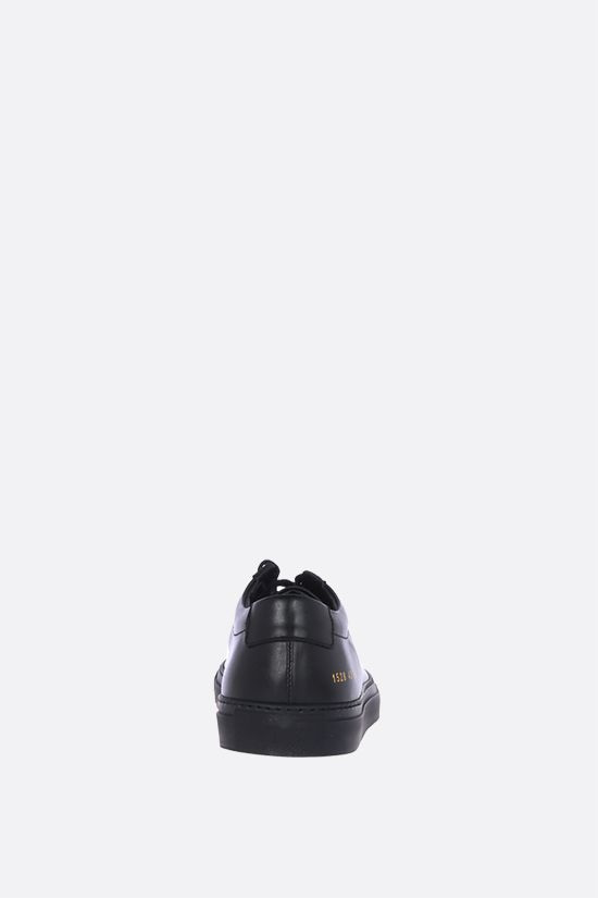 COMMON PROJECTS: Original Achilles smooth leather sneakers Color Black_3
