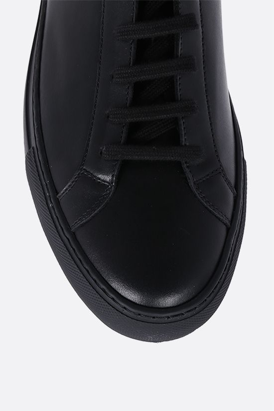 COMMON PROJECTS: Original Achilles smooth leather sneakers Color Black_4