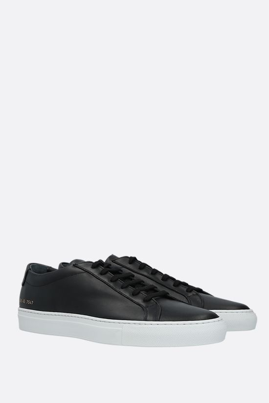 COMMON PROJECTS: Achilles smooth leather sneakers Color Black_2