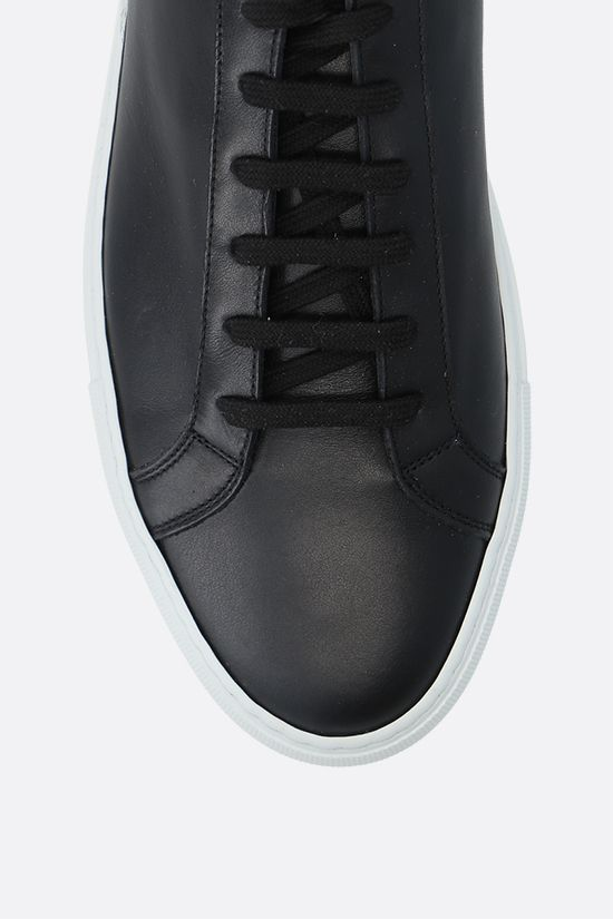 COMMON PROJECTS: Original Achilles smooth leather sneakers Color Black_5