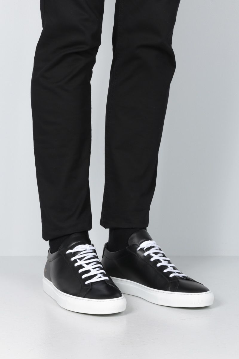 COMMON PROJECTS: Original Achilles sneakers in smooth leather Color Black_2
