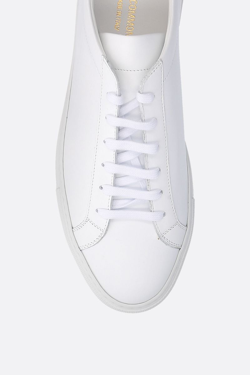 COMMON PROJECTS: Original Achilles smooth leather sneakers Color White_4