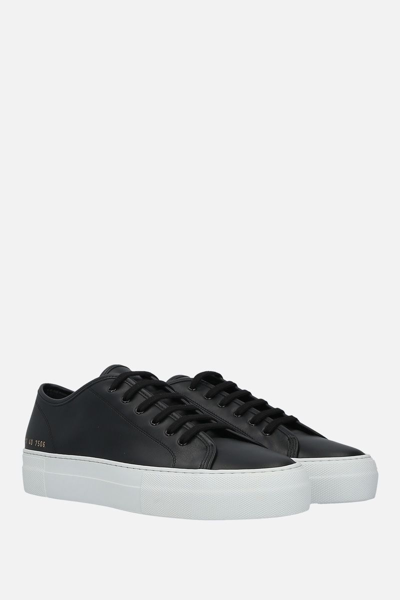 COMMON PROJECTS: sneaker flatform Tounament in pelle liscia Colore Nero_2