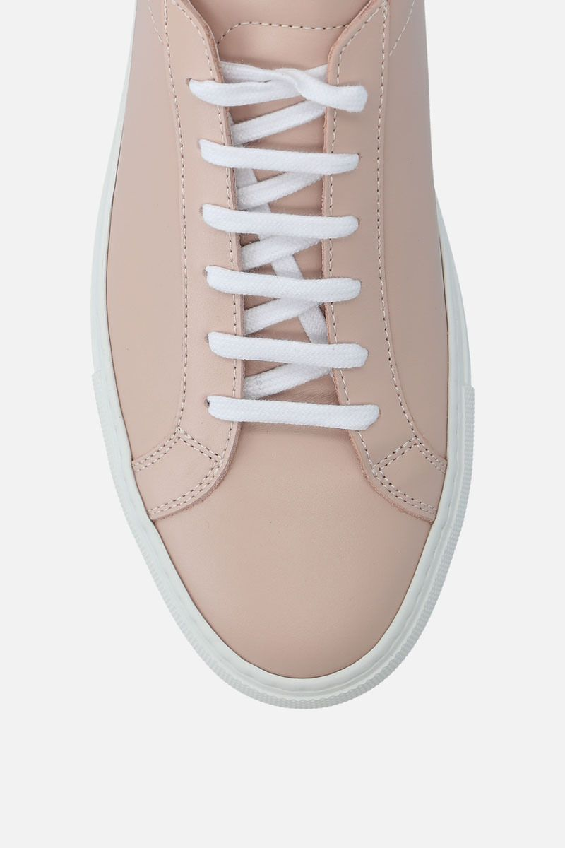 COMMON PROJECTS: Achilles sneakers in smooth leather Color Pink_4