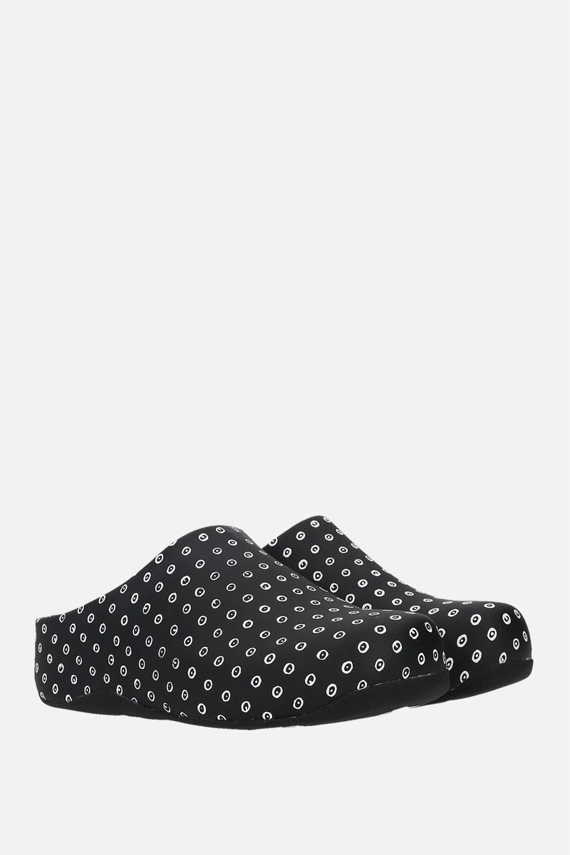 FITFLOP X 10 CORSO COMO: Shuv smooth leather mules Color Black_2