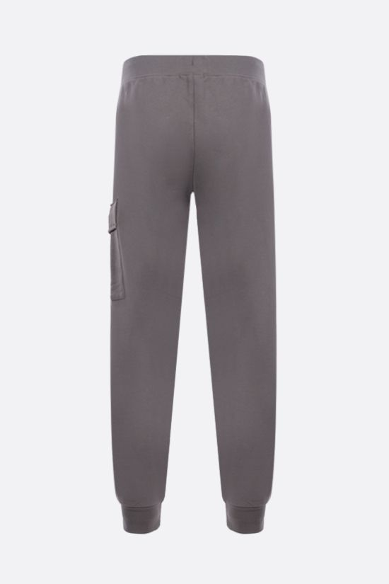 CP COMPANY: logo-detailed cotton joggers Color Grey_2
