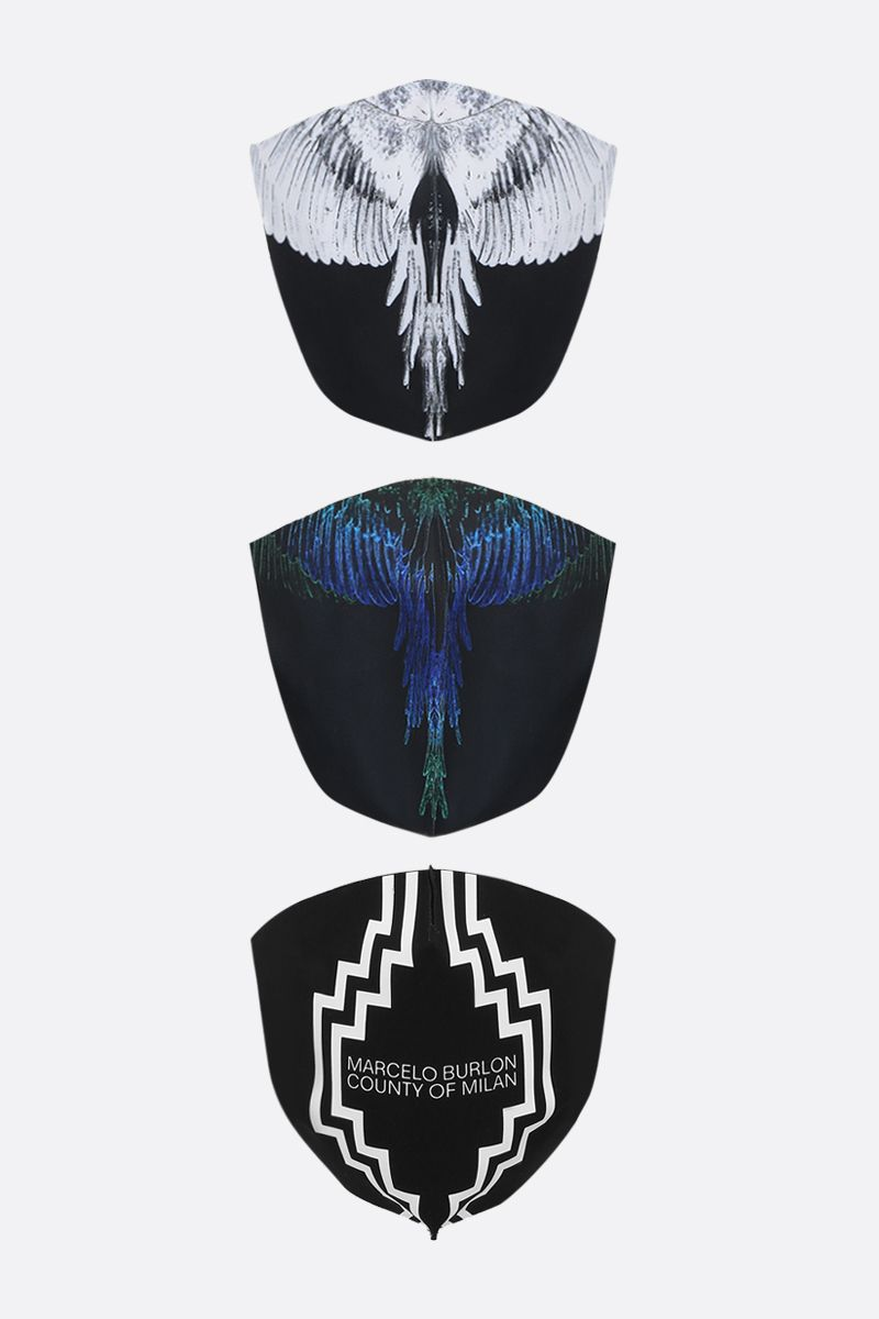 MARCELO BURLON COUNTY OF MILAN: County Active tech jersey 3 pack mask Color Black_1