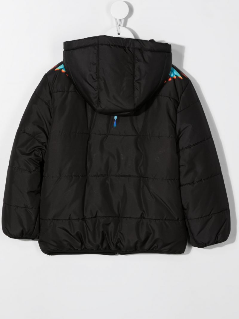 MARCELO BURLON COUNTY OF MILAN KIDS: Grizzly Wings nylon padded jacket Color Black_2