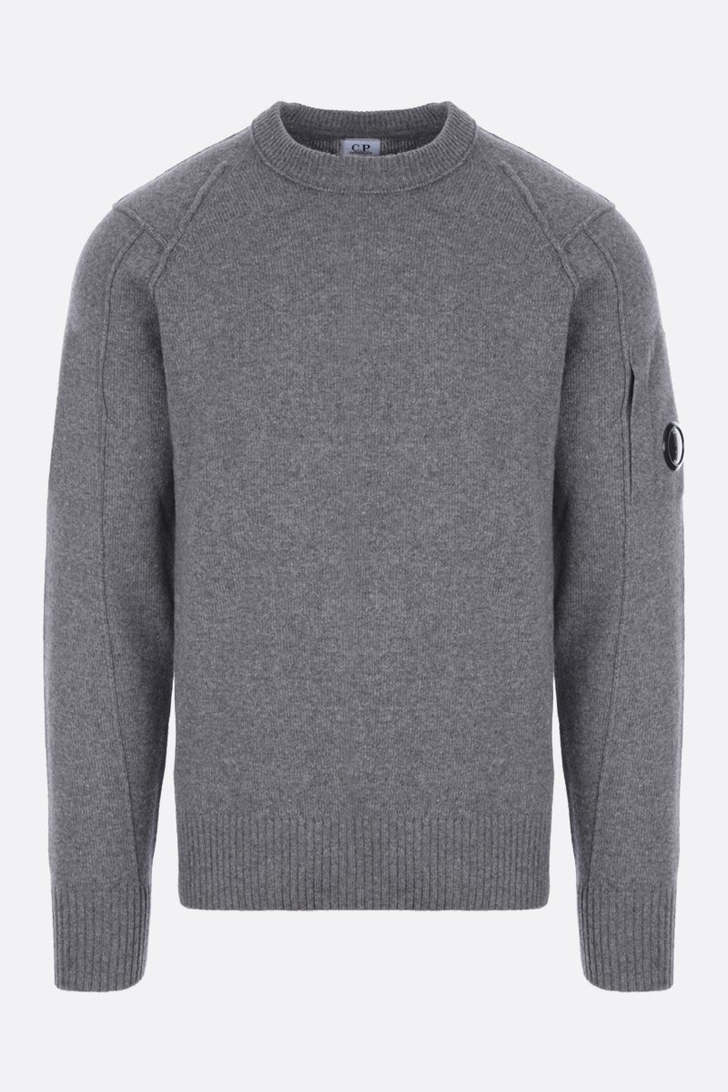 CP COMPANY: logo-detailed technical wool pullover Color Grey_1