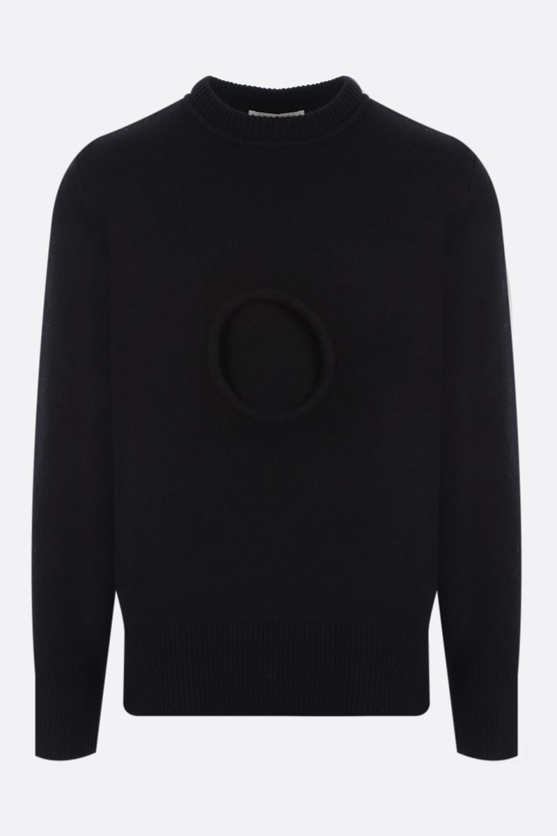 CRAIG GREEN: Hole wool pullover Color Black_1