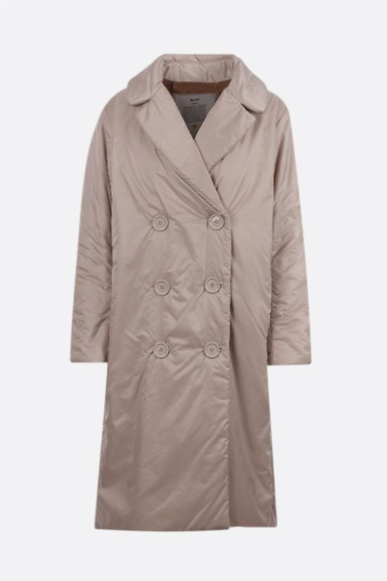 MAX MARA THE CUBE: Greenca padded nylon double-breasted coat Color Neutral_1