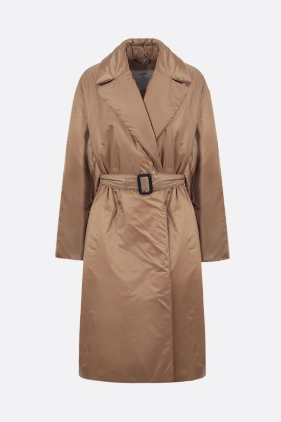 MAX MARA THE CUBE: Greenco padded nylon double-breasted coat Color Brown_1