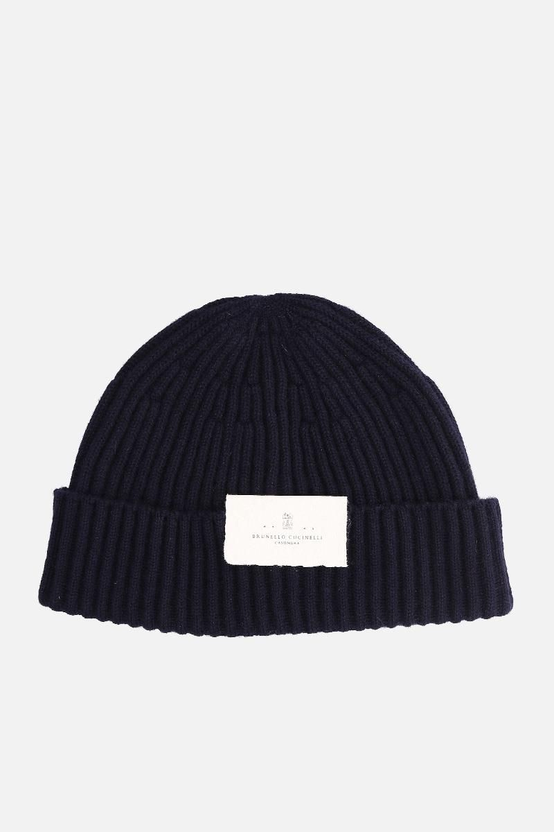 BRUNELLO CUCINELLI: cashmere knit beanie Color Blue_1