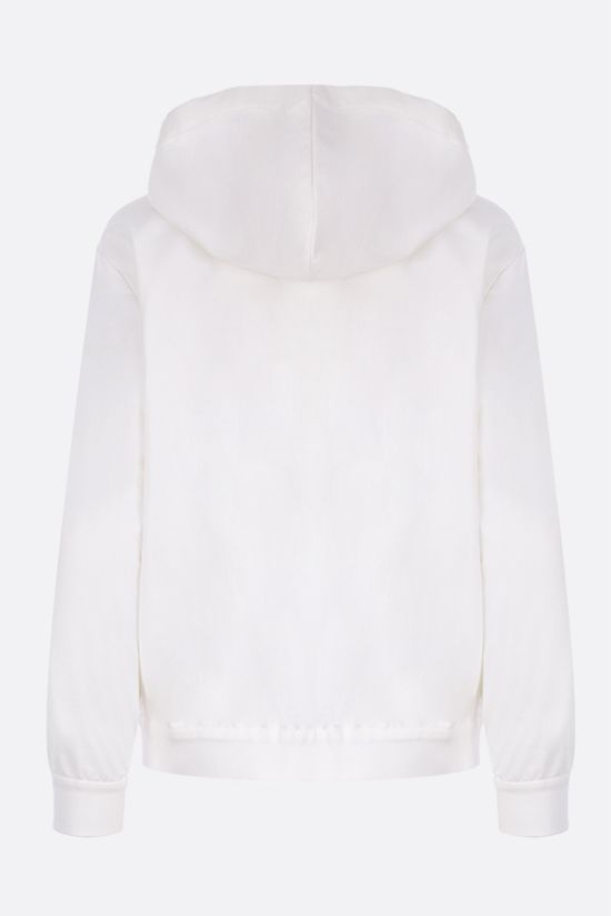 BRUNELLO CUCINELLI: jersey full-zip hoodie with shiny monili Color White_2