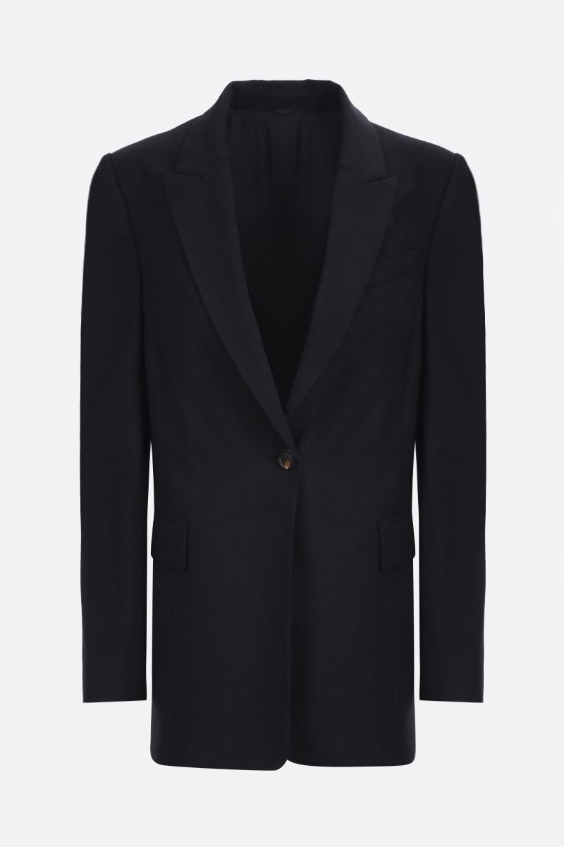 BRUNELLO CUCINELLI: monili-detailed single-breasted jacket Color Black_1