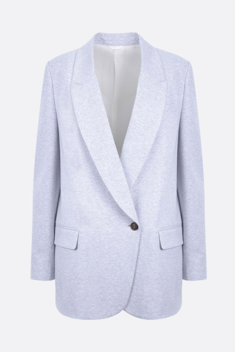 BRUNELLO CUCINELLI: double-breasted jersey jacket Color Silver_1