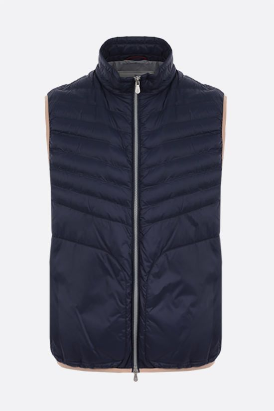 BRUNELLO CUCINELLI: nylon sleeveless down jacket Color Blue_1