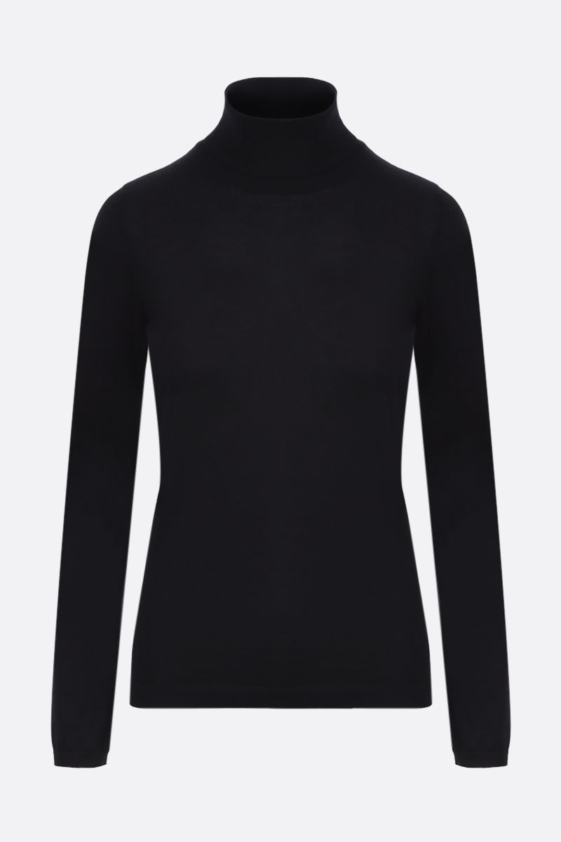 BRUNELLO CUCINELLI: cashmere silk blend turtleneck Color Black_1