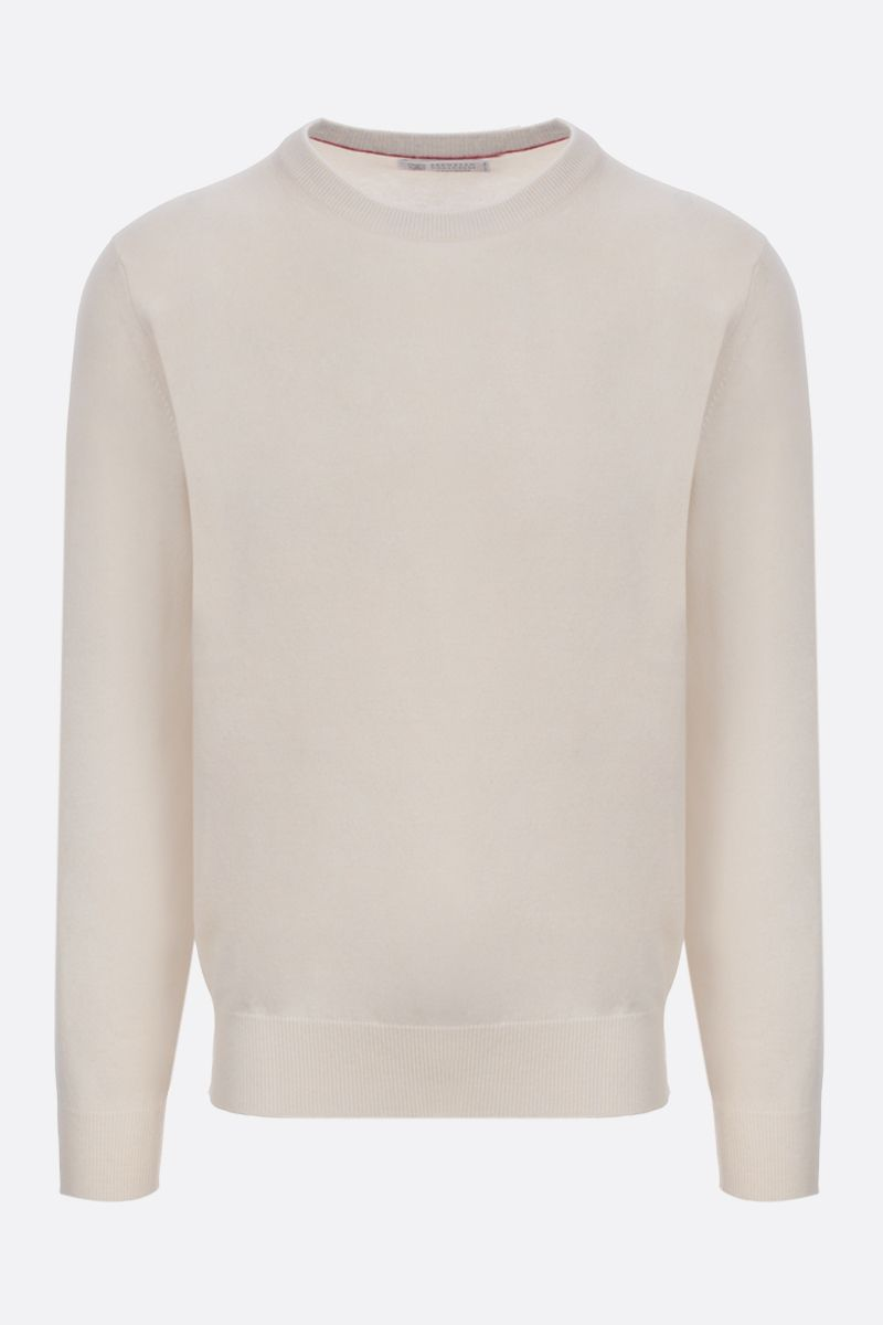 BRUNELLO CUCINELLI: pure cashmere pullover Color White_1