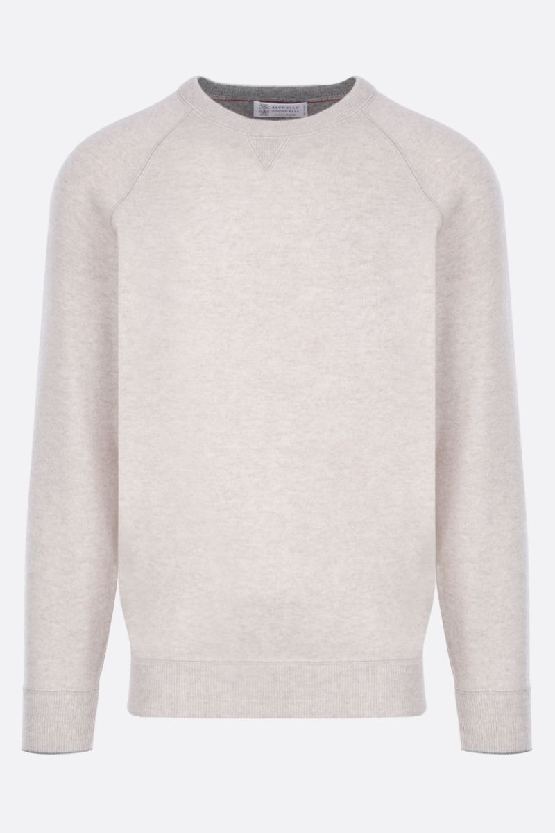 BRUNELLO CUCINELLI: pure cashmere pullover Color Neutral_1