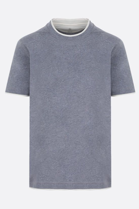 BRUNELLO CUCINELLI: slim-fit cotton t-shirt Color Grey_1