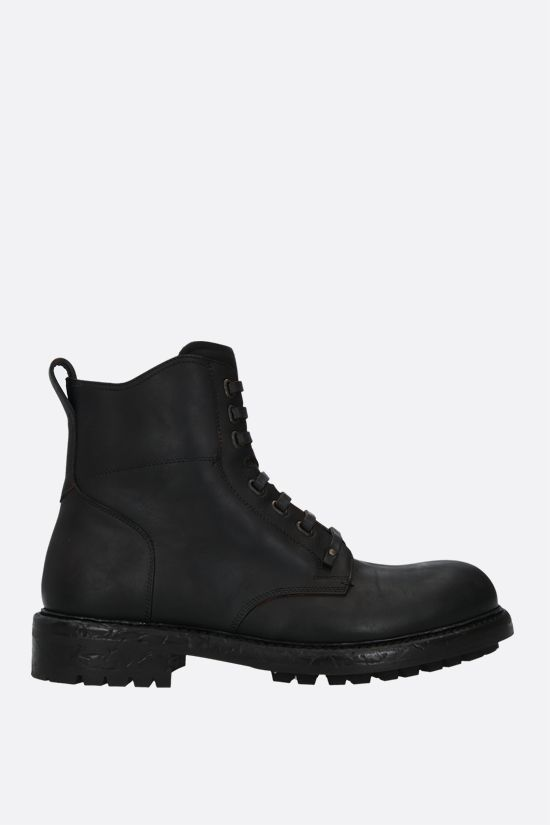 DOLCE & GABBANA: Bernini matte leather combat boots Color Brown_1
